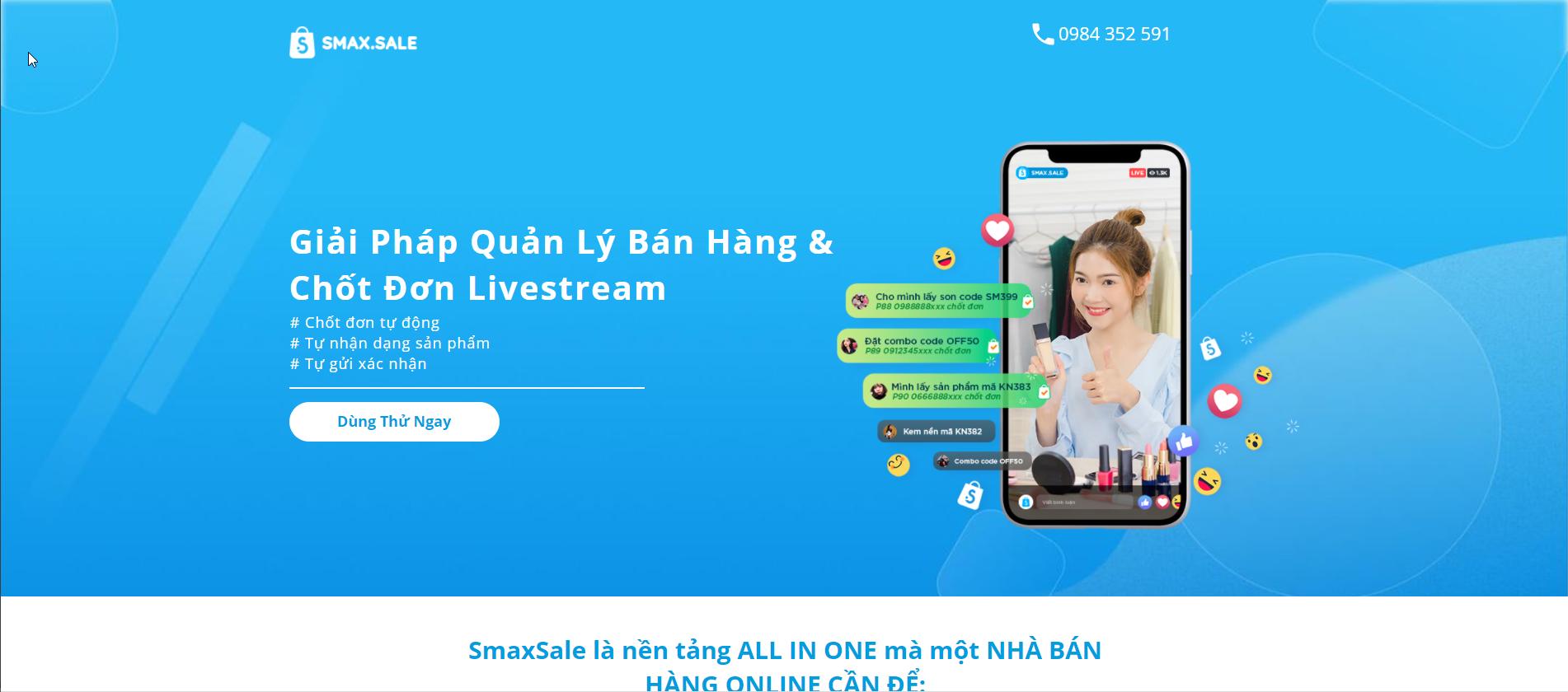 phần mềm hỗ trợ bán hàng livestream hiệu quả