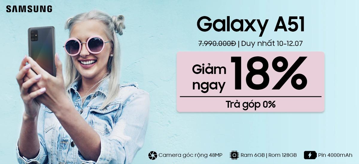 Samsung Galaxy A51 Giảm 1.5 Triệu - Trả Góp 0%